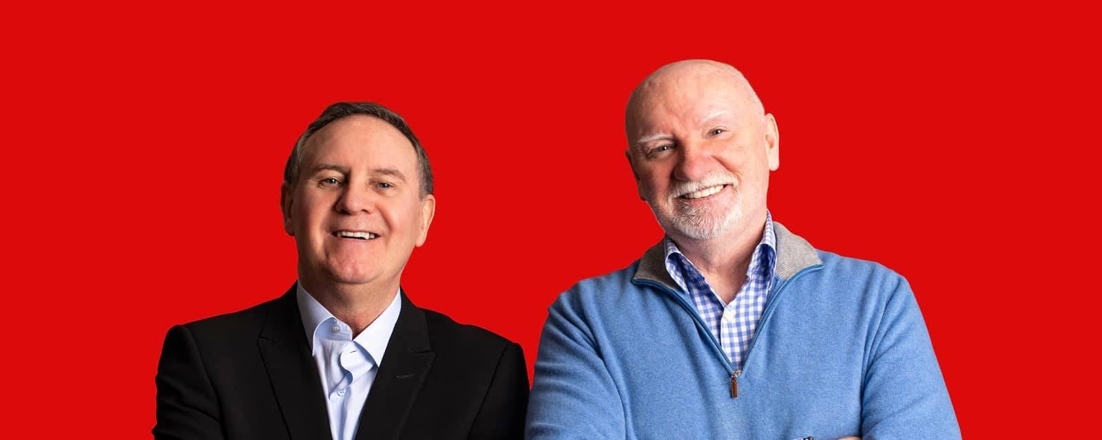 Hunter & Haughey, hosts of the Go Radio Business Show.