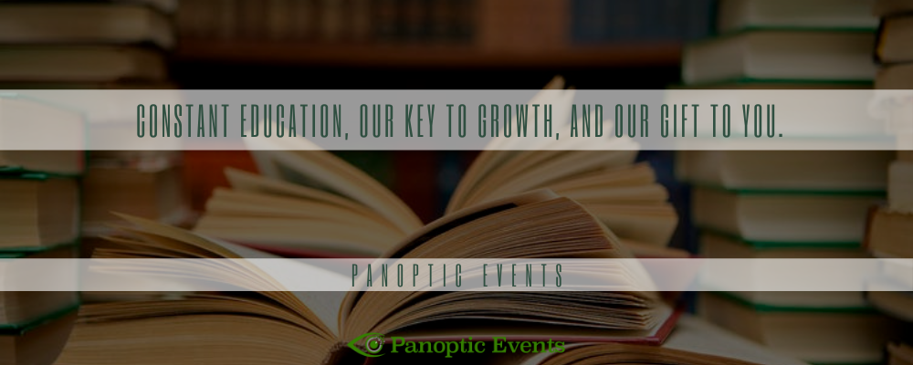 Constant education, our key to growth, and our gift to you.