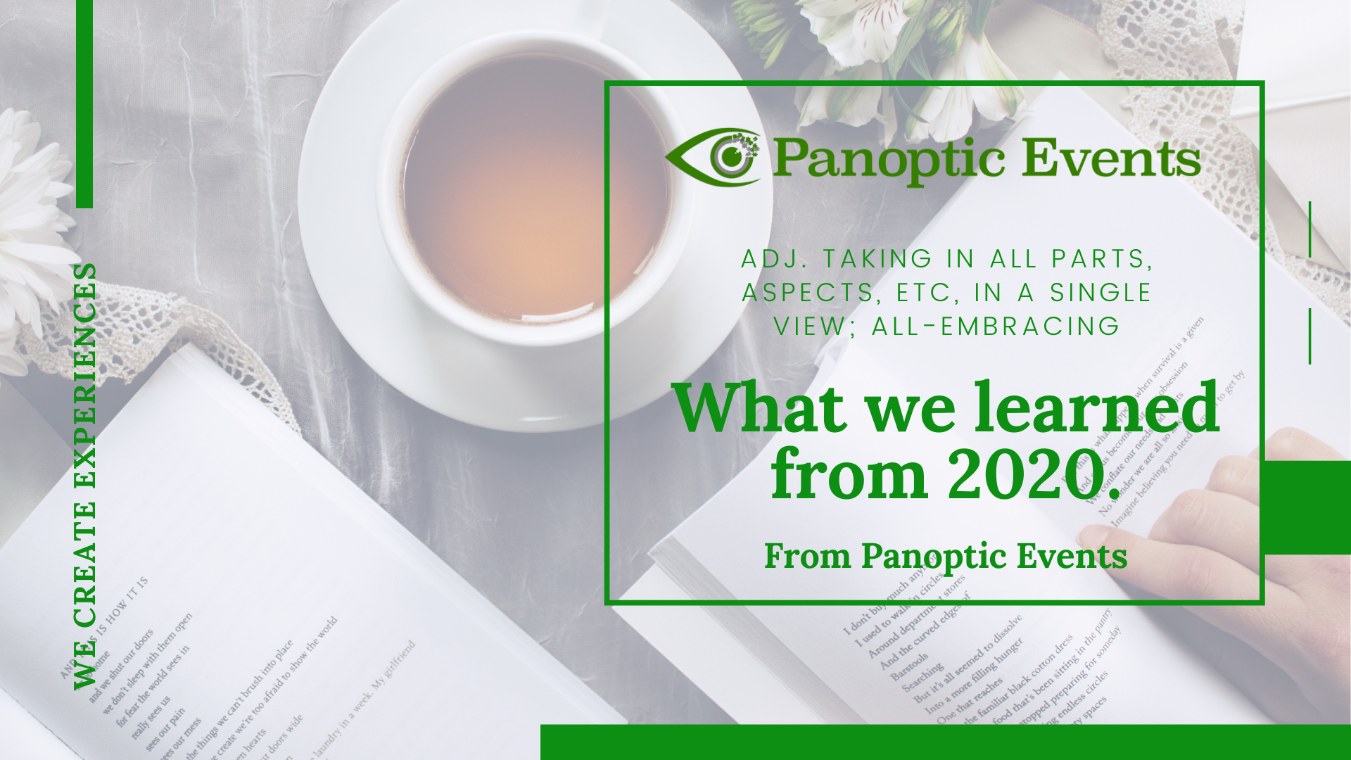 Panoptic Events - 10 things we learned in 2020