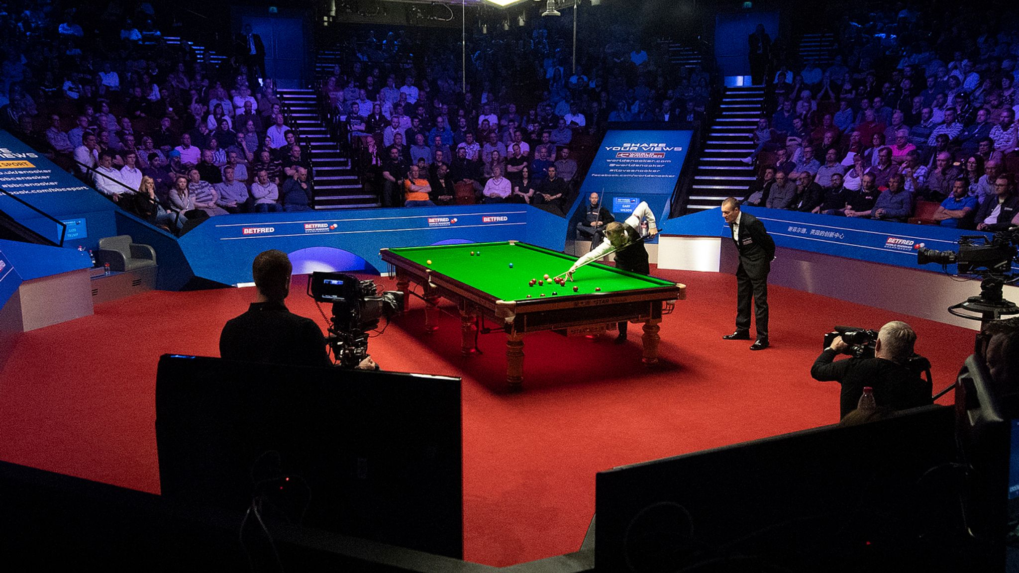 World Snooker Championships Trial research for the return of mass events